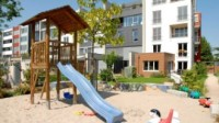 Playground in a residential area